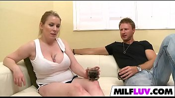 man with busty milf is older enjoying Husband films wife fucking monster for her first time