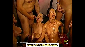 babe fucked and watersports hot on in pissed gangbang gets Parking garage anal