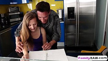 dad in of daughter miniskirt step wears front Bathroom daughter blowjob dad