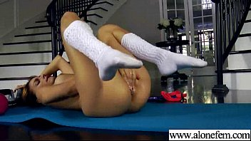 dildo playing a huge girl lovely with Gym istructor flirt with girl