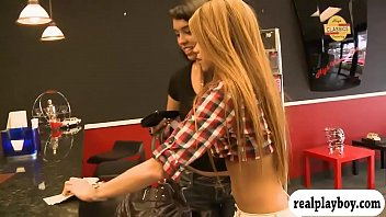 joi for women Hot blonde in red bra black stockings boots kissing fucking pleasing
